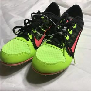 Nike Rival Green And Pink Track Spikes Size 12